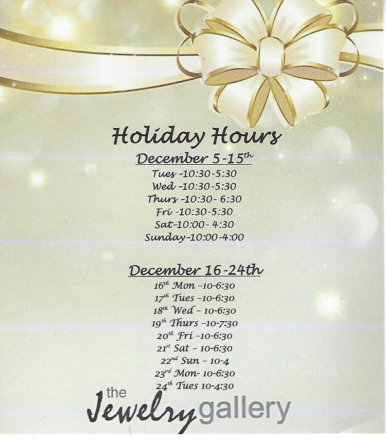 Our 2019 Holiday Hours!